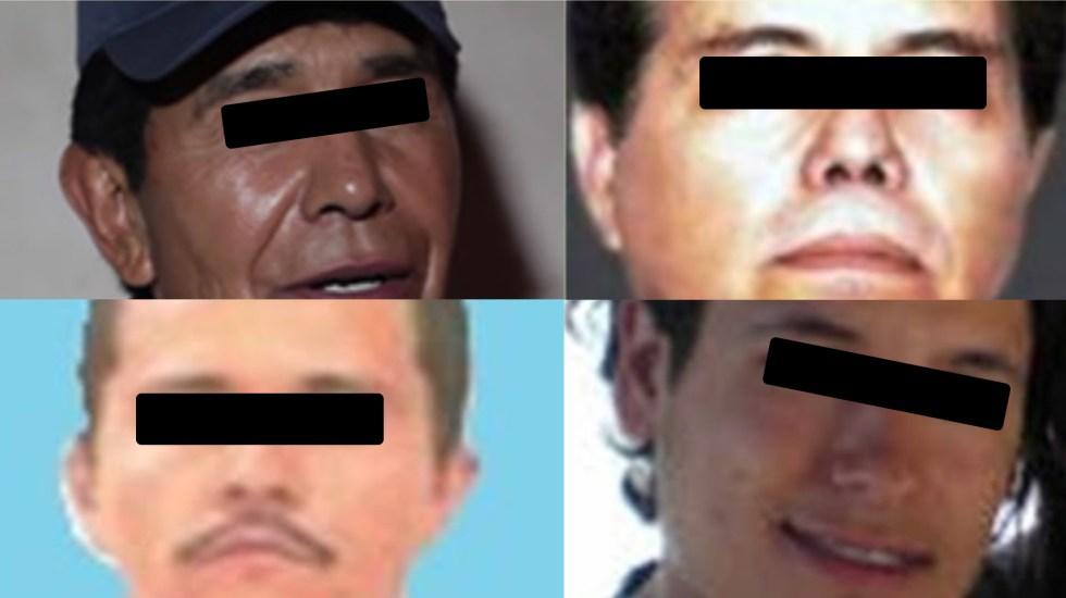 Ellos son los cuatro mexicanos más buscados por la DEA - Mexicanos más buscados por la DEA. Foto de DEA