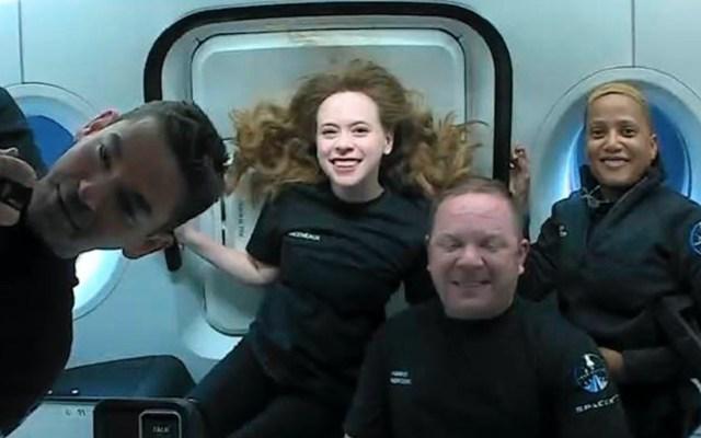 Tripulantes de la misión Inspiration4 conversan desde el espacio con niños - Tripulantes de la misión Inspiration4 conversan desde el espacio con niños. Foto de EFE