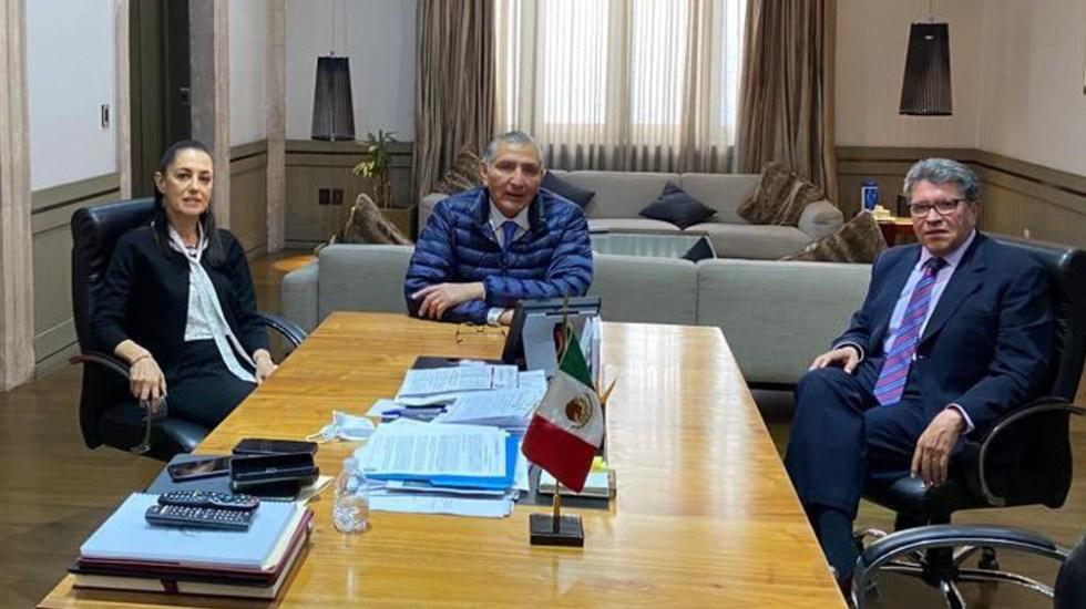 """Se reúnen Monreal, López y Sheinbaum para """"revisar agenda legislativa"""" - Monreal Sheinbaum López"""