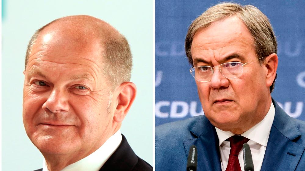 El SPD alemán arropa a Scholz; Laschet recibe el espaldarazo final de Merkel - Olaf Scholz Armin Laschet Alemania