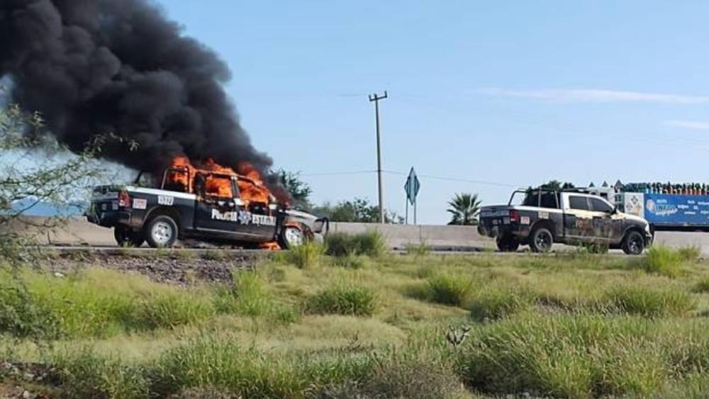 Enfrentamiento en Sonora deja 4 sicarios abatidos y 2 policías heridos - Pitiquito Sonora enfrentamiento