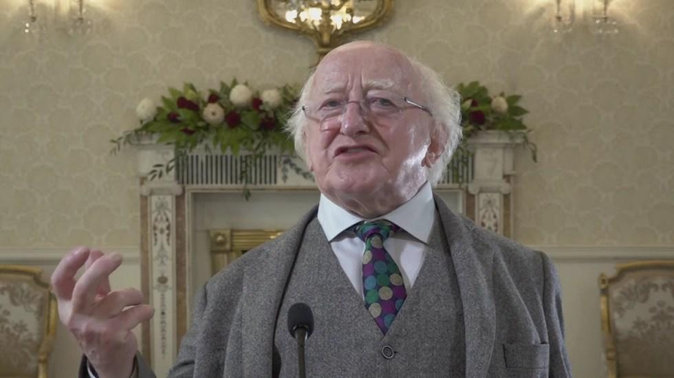 #Video Presidente de Irlanda felicita a México por aniversario de Independencia - Presidente Higgins de Irlanda
