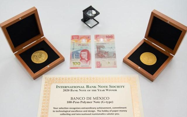 Banxico recibe reconocimiento por billete de 100 pesos, el mejor de 2020 - Reconocimiento al billete de 100 pesos