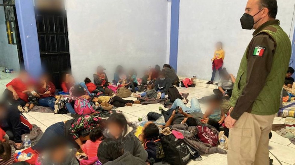 Rescatan a 286 migrantes centroamericanos en Aguascalientes - Rescatan a 286 migrantes centroamericanos en Aguascalientes. Foto de INM