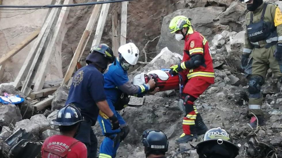 Continúa búsqueda de madre e hijo en Cerro del Chiquihuite - Rescate del cuerpo de la niña Mía entre escombros del Cerro del Chiquihuite