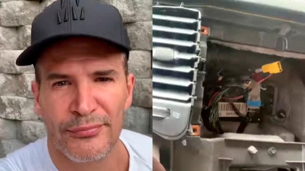 #Video Asaltan en CDMX y roban estéreo a coche del actor Julio Camejo - Robo de estéreo a auto de Julio Camejo. Captura de pantalla