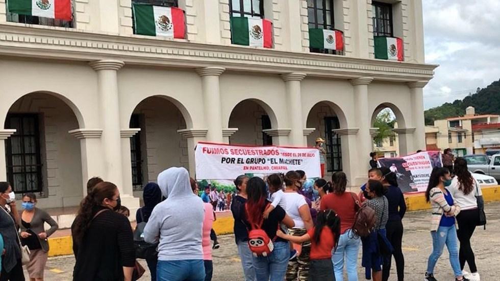 Familiares exigen liberación de 21 secuestrados en Chiapas - Exigen liberación de 21 secuestrados en el estado mexicano de Chiapas. Foto de EFE