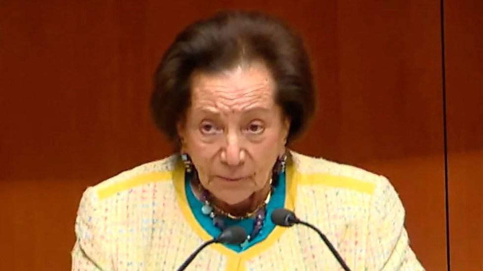 Senado propone otorgar a Ifigenia Martínez la Medalla Belisario Domínguez - Senadora Ifigenia Martínez