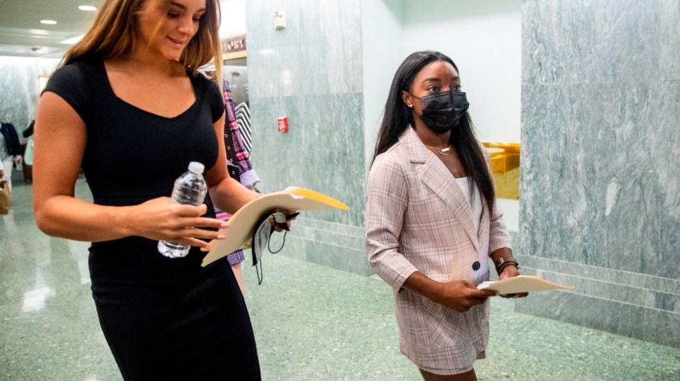 "Biles culpa a federación y a un ""sistema entero"" de los abusos de Nassar - Simone Biles"
