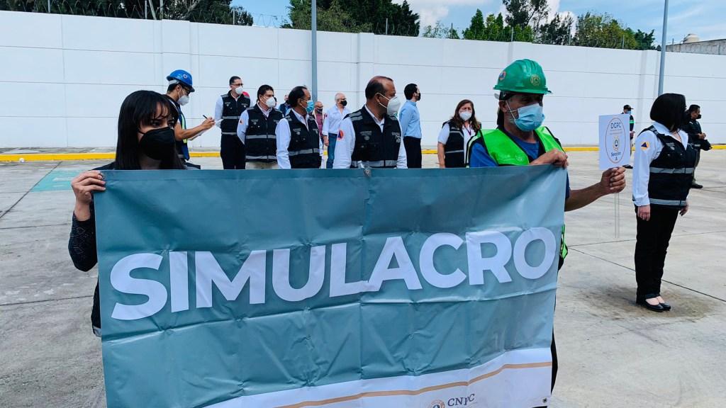 Funcionaron 99.3 % de los altavoces durante simulacro en CDMX - Simulacro Nacional en instalaciones de la CNPC