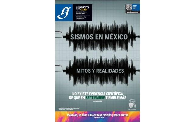 Gaceta UNAM: Sismos en México, mitos y realidades - Sismos México mitos y realidades UNAM 2