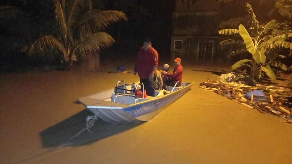 Evacúan a familias en Tabasco debido a lluvias y deslaves - Tabasco lluvias septiembre 2021