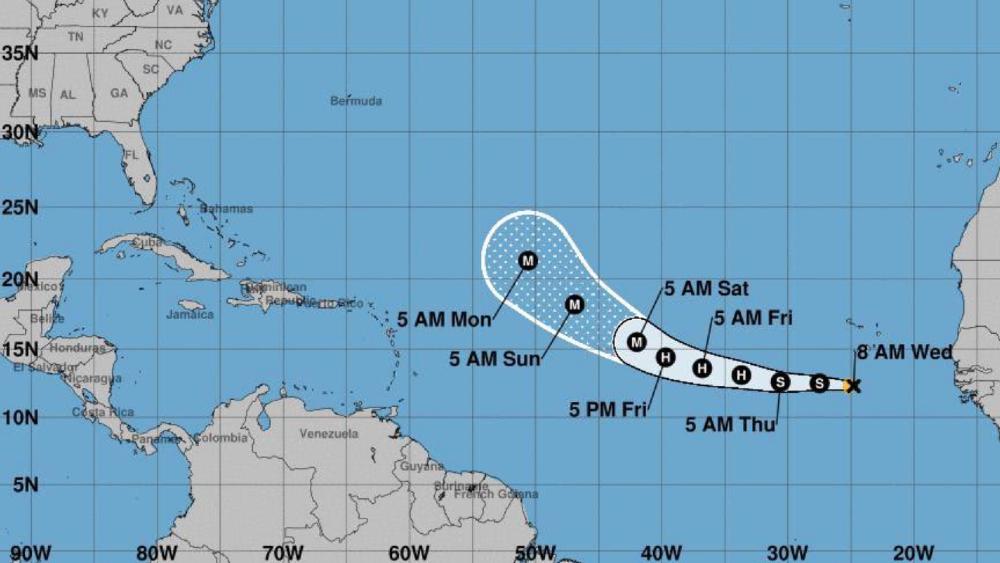 tormenta tropical Larry