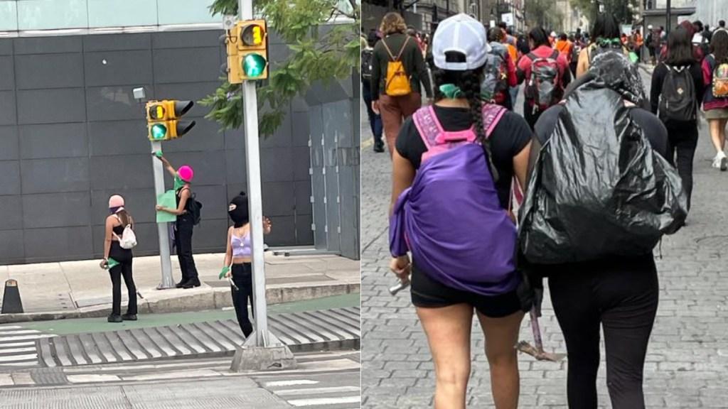 Imágenes de la marcha por el aborto legal y seguro en la Ciudad de México - Zócalo Ciudad de México aborto marcha 4