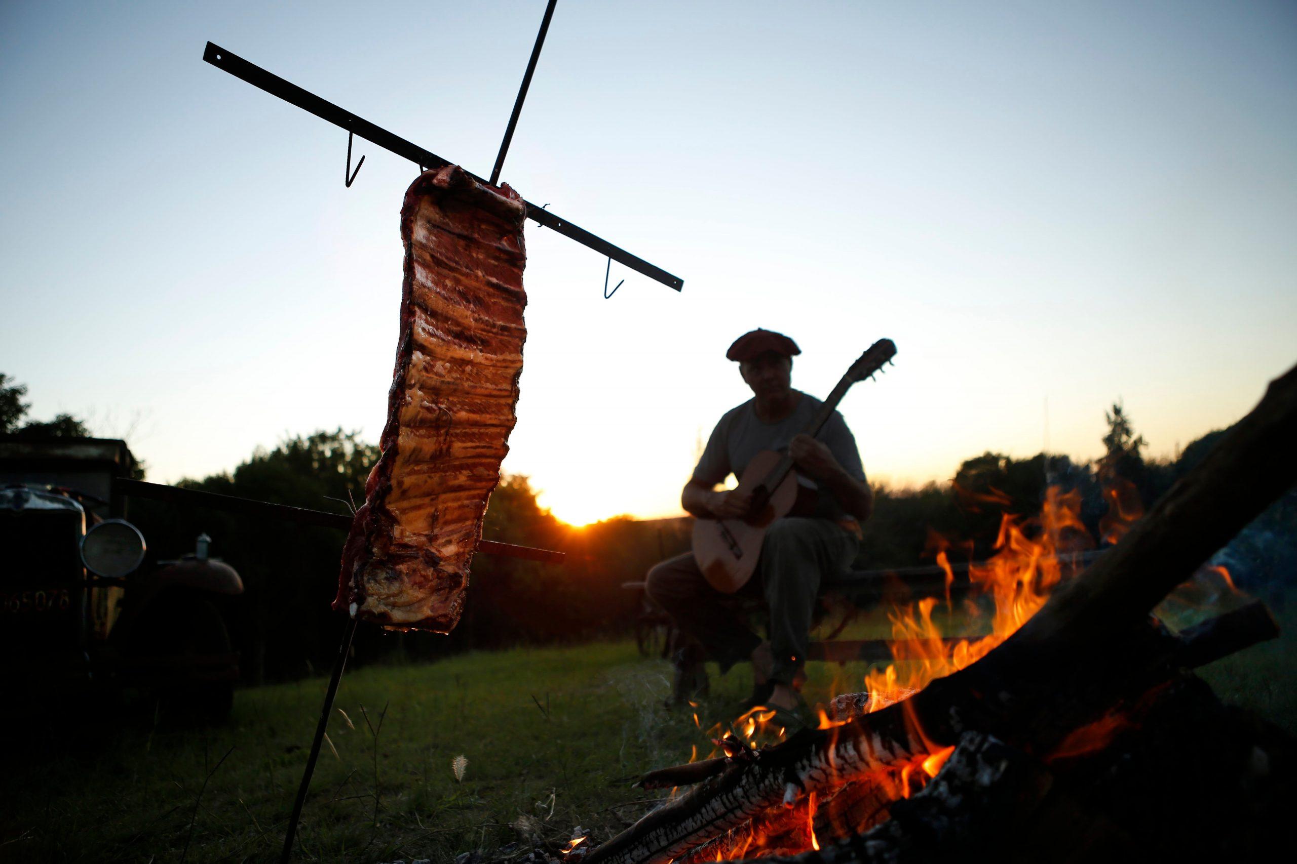 Costillar de carne a la cruz.