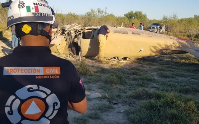 Cae de aeronave en Salinas Victoria, Nuevo León; hay un lesionado - Accidente Salinas Victoria nuevo León aeronave