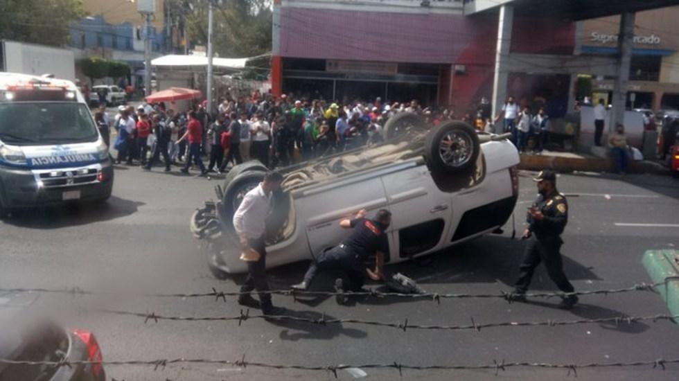 Volcadura en Calzada de Tlalpan deja un muerto y tres lesionados - Accidente Tlalpan CDMX volcadura