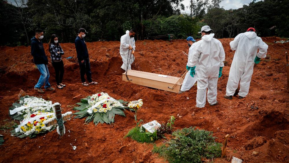 Brasil funeral COVID coronavirus