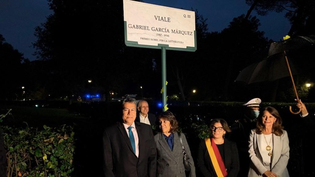 Inauguran una calle en honor a Gabriel García Márquez en Roma - Inauguran una calle en honor a Gabriel García Márquez en Roma. Foto de EFE