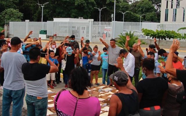 Migrantes alistan nueva caravana desde la frontera sur - Migrantes alistan nueva caravana desde la frontera sur. Foto de EFE