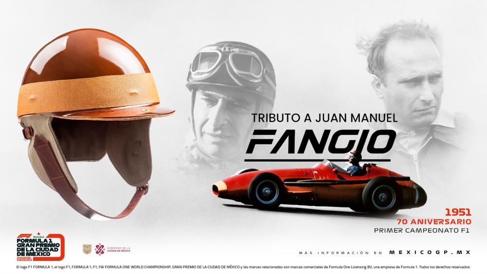 Ganador de pole del GP México se llevará casco de Juan Manuel Fangio - Casco Fangio GP México
