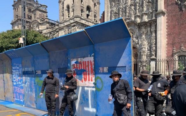 Centro Histórico blindado previo a marcha por el 2 de Octubre - Centro Histórico blindado previo a marchas por el 2 de Octubre. Foto de Grupo Fórmula