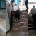 #Video Evidencian a falso discapacitado que pedía dinero en Metro