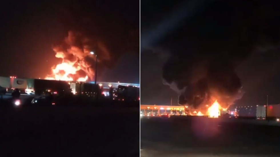 Volcadura de pipa enCircuito Exterior Mexiquense provoca incendio - Incendio Circuito Exterior Mexiquense