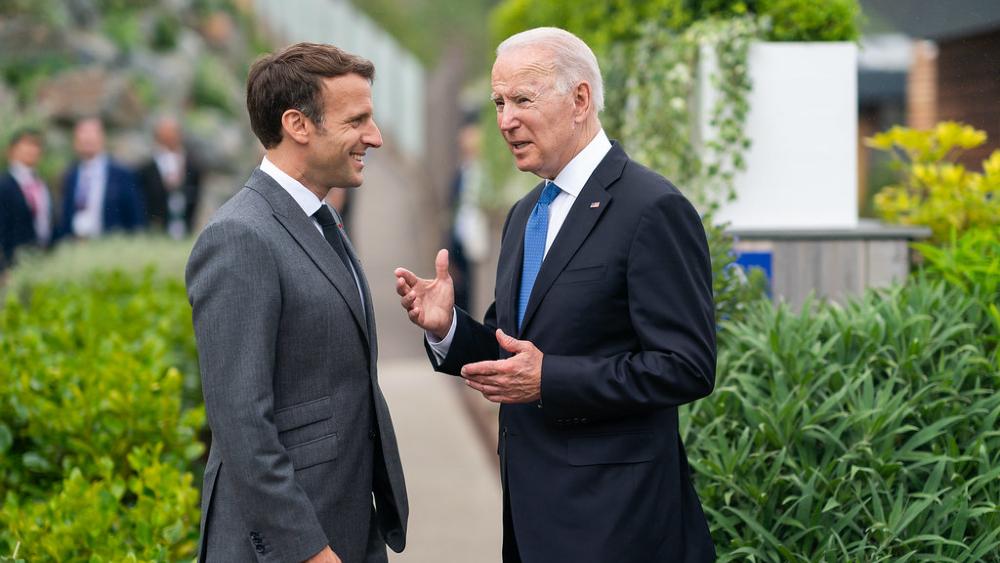 Biden y Macron se reunirán en Roma para reparar las relaciones - Joe Biden Emmanuel Macron