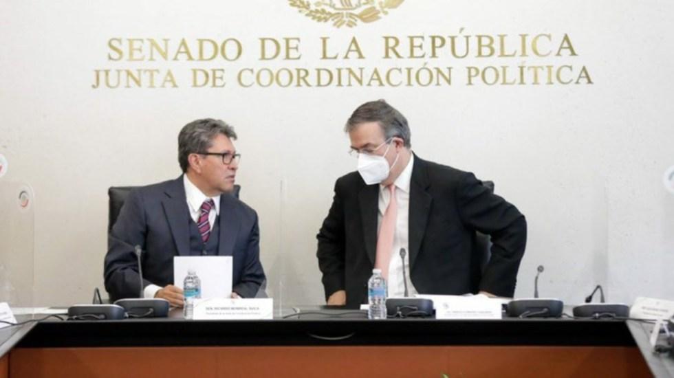 Descarta Ebrard daños en la relación México-EE.UU. por reforma eléctrica - Marcelo Ebrard y Ricardo Monreal México Senado