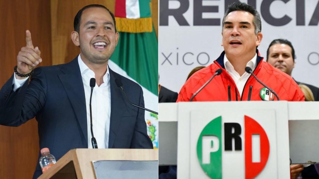 """Líderes del PRI y PAN rechazan ruptura de la coalición """"Va por México"""" - PAN PRI líderes Alejandro Moreno Marko Cortés"""