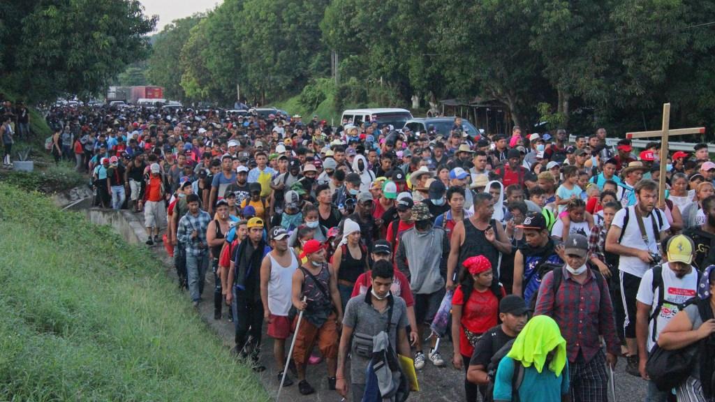 Caravana migrante avanza lentamente por Chiapas - Quinta caravana migrante que parte desde Chiapas