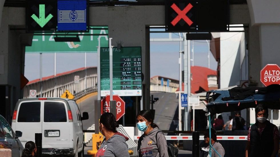 Empresarios de Ciudad Juárez celebran reapertura de frontera - Empresarios de Ciudad Juárez celebran reapertura de frontera. Foto de EFE
