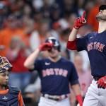 Martínez y Devers pegan grand slams y Red Sox iguala serie ante Astros - Red Sox Boston Houston Astros