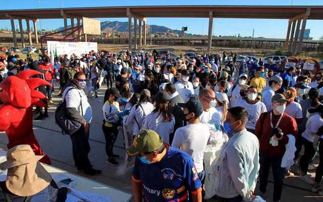 Activistas se unen en la frontera para limpiar el río Bravo - Río Bravo Grande frontera limpieza 2