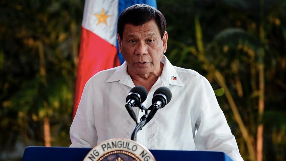 Duterte dejará la política al concluir su mandato como presidente de Filipinas - Duterte dejará la política al concluir su mandato como presidente de Filipinas. Foto de EFE