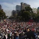 AMLO acto de protesta contra la imposición