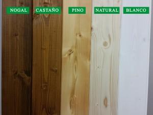 Gama de lasur para tratar el panel sándwich de madera