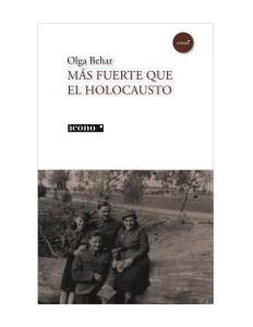 Portada de la novela Más Fuerte que el Holocausto. Icono, editores.