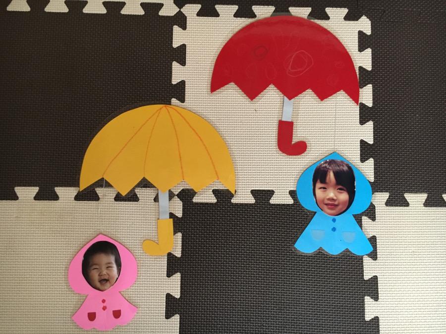 傘、てるてる坊主