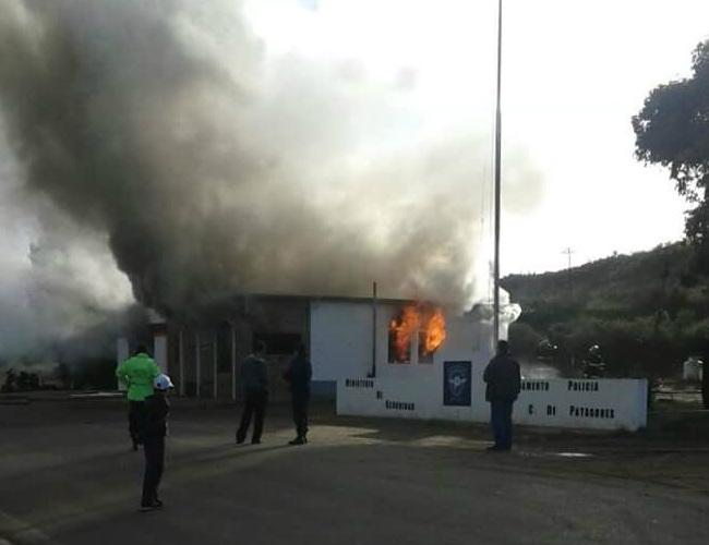 Incendio de la caminera