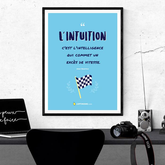 affiche A3 intuition bleu