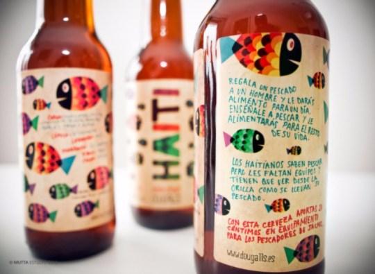 Detalle de la etiqueta de Haiti, summer ale de DouGall's (foto: mutta.es)