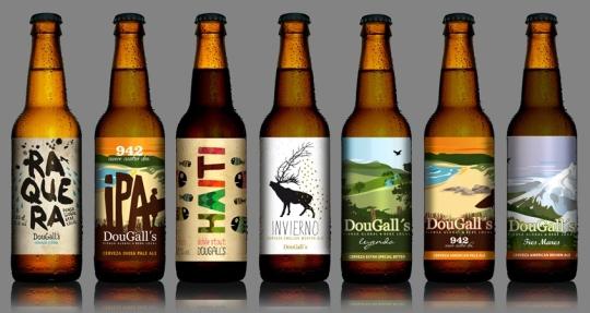 Siete de las ocho cervezas comercializadas por DouGall's (foto: mutta.es)