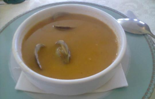 Sopa de pescado, de Restaurante Amarantos (foto: OCE)