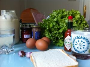 Los ingredientes del sandwich (foto: Cuchillo)