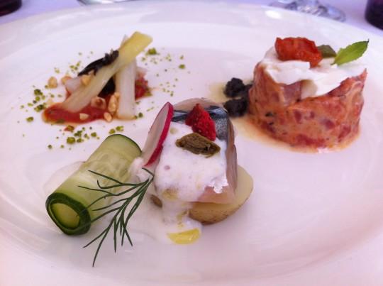 Aperitivos del menú degustación del restaurante Deluz (foto: Cuchillo)
