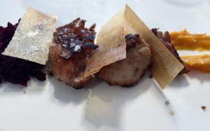 Mollejas a la zarzaparrilla, en Ronquillo (foto: Igone Zilipurdi)
