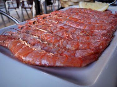 Gamba roja de Huelva, en taberna Gure Etxea (foto: Cuchillo)