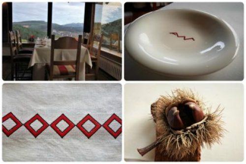 Vista y detalles varios, en restaurante Andra Mari (fotos: Cuchillo)